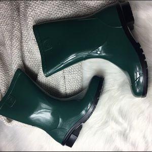 UGG Girl's Rainboots Green Size 4 NEW